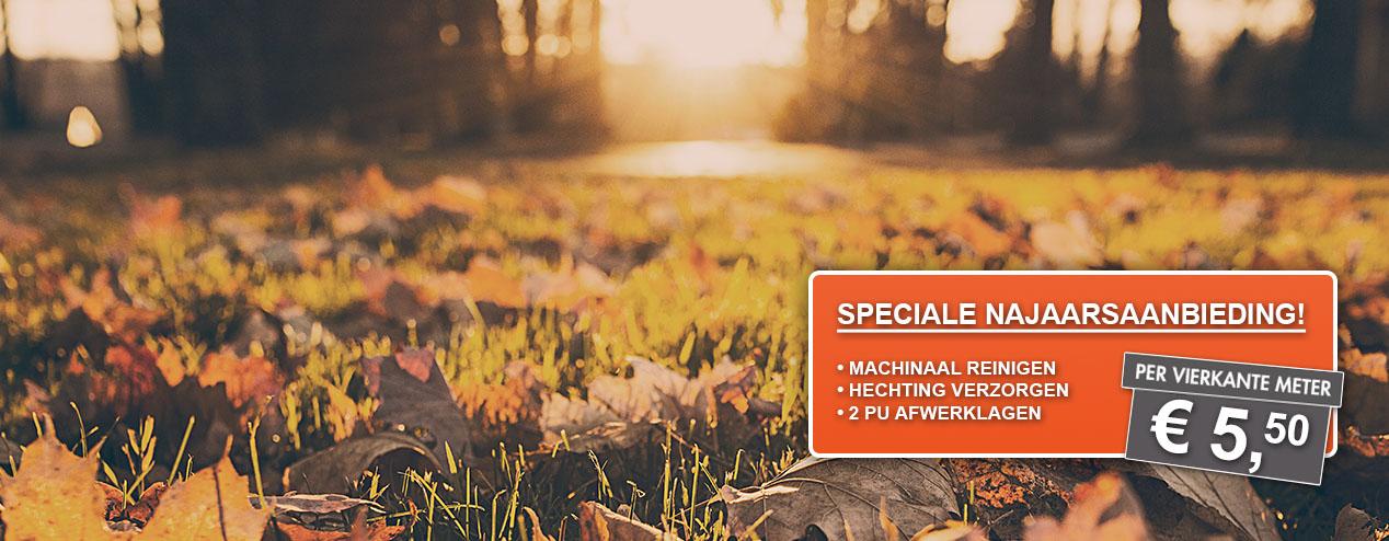 NAJAARSAANBIEDING!! Uw vloer reinigen & verzorgen voor maar €5,50 p/m2